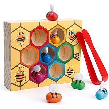 4.318 cm H x 21.59 cm W x 33.274 cm L Developmental Toy Wooden Shape Blocks Double-Sided Boards Melissa /& Doug Pattern Blocks and Boards Classic Toy 120 Shapes /& 5 Boards