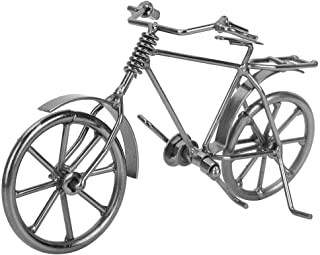 Hilitand Mini Bicycle Model Vintage Bike Iron Vehicle Model Bicycle for Toy Gifts Showcase Display Home Desktop Decor