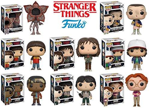 Funko Stranger Things: Eleven, Demogorgan, Barb, Mike, Lucas, Will, Dustin, Joyce Figure Set of 8