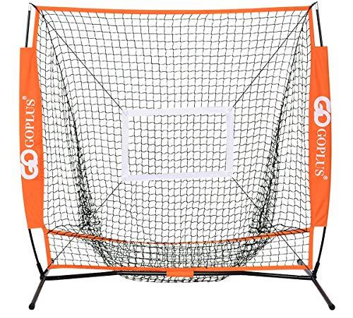 Costway 野球練習用ネット 野球ネット リターンネット ピッチングネット バッティングネット 投球練習 収納袋付き 折りたたみ式 150x90x150cm 野球道具