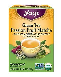 Yogi Tea, Green Tea Passion Fruit Matcha, 16 Count