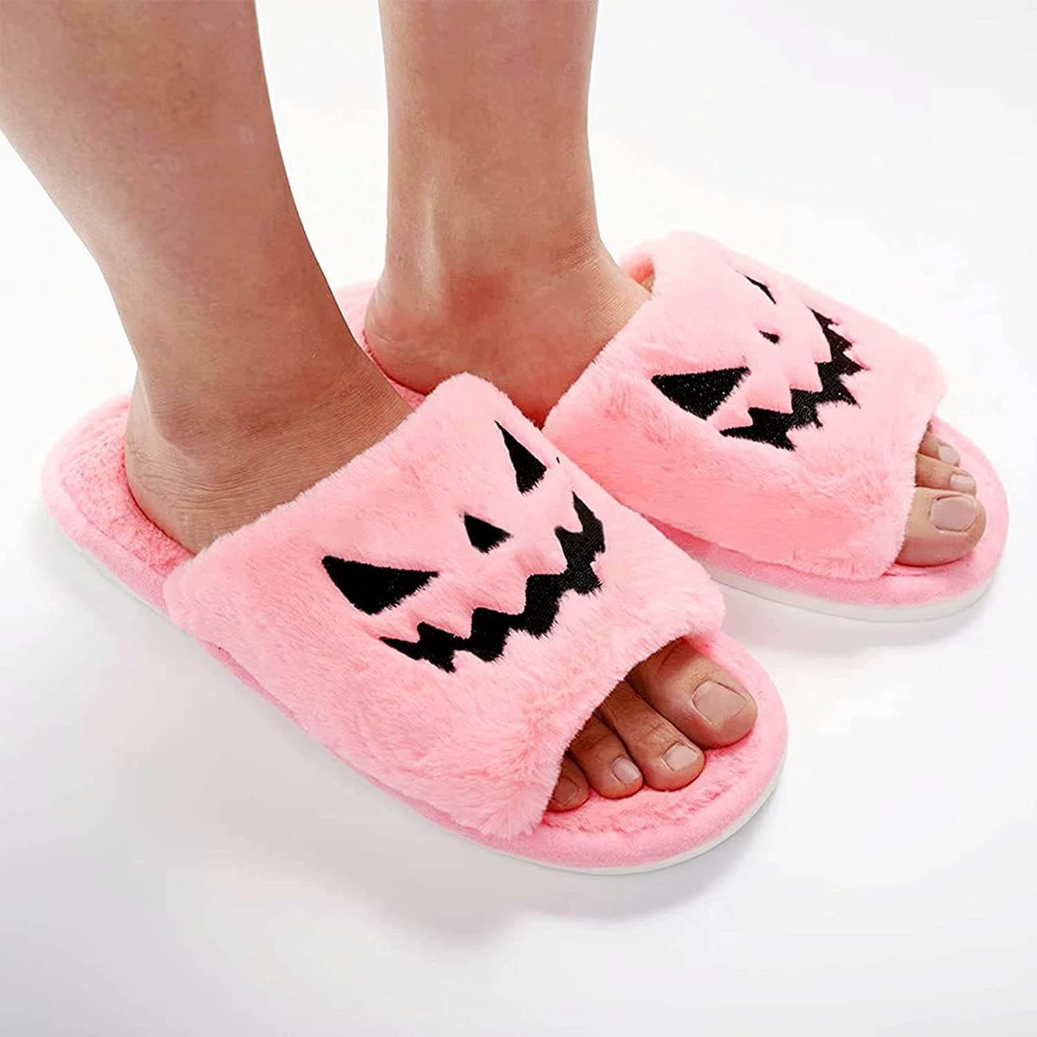 Retro Fashion Slippers,Soft Plush Comfy Fuzzy Warm Slip-on Slippers,Faux Fur Anti-Skid Sole Indoor House Slipper for Men and Women