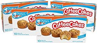 Drake's Coffee Cakes, 4 Boxes, 40 Individually Wrapped Breakfast Pastries