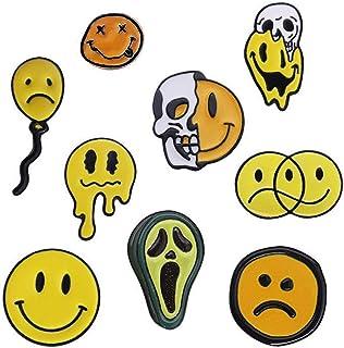 Shinmond 9 Styles I Am Not Happy Enamel Pins Summer Hot to Deformation Melted Avocado Skull Face Brooches Denim Shirt Lape...