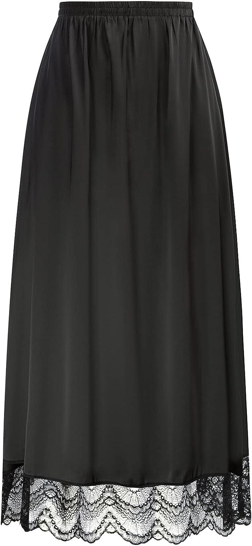 Kate Kasin Half Popularity Slips Anti Award-winning store Static Women with for Lace Underskirt