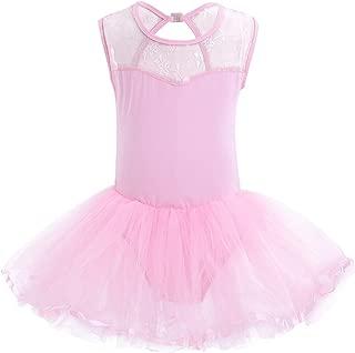 Freebily Maillot Ballet Ni/ña Vestido Danza Tut/ú Vestido Baile Gimnasia Ritmica con Braguita Interior Lentejuelas para Ni/ña Chica