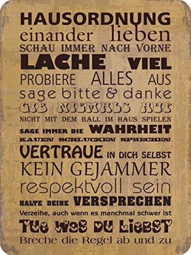 Blechwaren Fabrik Braunschweig GmbH Hausordnung ! Blechschild 30x40 cm 303/169