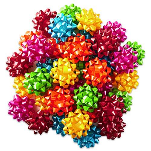 Hallmark Bright Gift Bow Assortment (36 Bows) Red, Pink, Orange, Green, Teal, Yellow for Birthdays, Weddings, Baby Showers, Bridal Showers, Christmas, Hanukkah