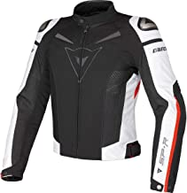 Dainese Men's Super Speed Tex Jacket Black/White/Red 58