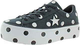 converse one star platform bianche pelle