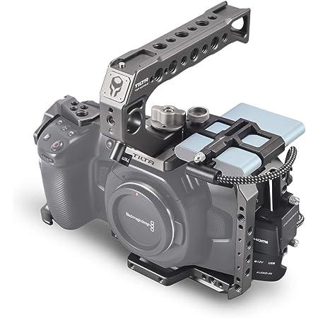 (Tilta Gray) TILTA TA-T01-B-G BMPCC 4K Cage Blackmagic Pocket Cinema Camera 4K Rig (Basic Kit)