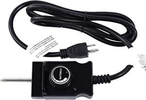 Petuivcor Adjustable Controller Thermostat Probe Control Cord for Turkey Fryer, Masterbuilt Smoker and Other Heating Element