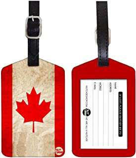 Nutcase Designer Luggage Travel Baggage Tags Set of 2 with Name Card Inside -Canada