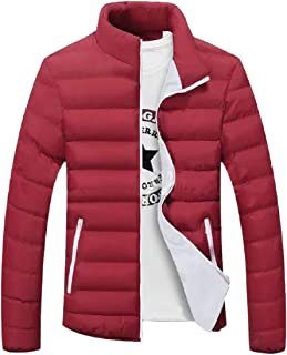 Men's Lightweight Packable Stand Collar Warm Thick Long-Sleeves Down Jacket