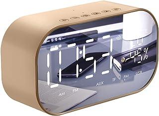 OhhGo Portable Wireless Bluetooth Speaker, Digital Radio Alarm Clock Mini Subwoofer