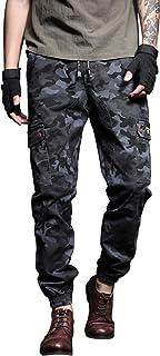 AiLoKoSo 迷彩パンツ ミリタリーパンツ カモフラ ズボン ロングパンツ カーゴパンツ ワークパンツ 軍パン メンズ 作業着 作業ズボン ボトムス イージーパンツ テーパード ワイド ゆったり 大きいサイズ