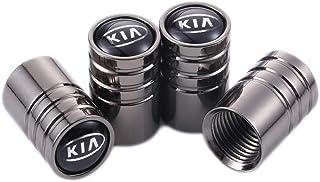 TK-KLZ - 4 Tapas para válvula de neumático de Coche para Kia SPORTAGE-