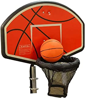 JumpKing Trampoline Basketball Hoop with Attachment and Inflatable Basketball