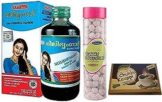 KPN 1 x Neelibhringadi Nilibhringadi Gingerly Oil, Prevents From Hair Loss 200ml bottle, With Free Dilbahars Yummy Digesti...