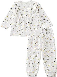 Zanie Kids Baby Girl Pajamas, Tee & Pant 2-Piece PJs Set, 100% Cotton Cute Prints Sleepwear