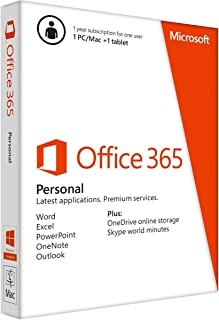 Microsoft Office 365 Personal 32/64 Arabic 1 Year Subscription - 1PC/Mac + 1 Tablet