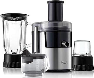 Panasonic 800W, Juicer with full metal spinner, glass blender jug and mill (Model MJDJ31)