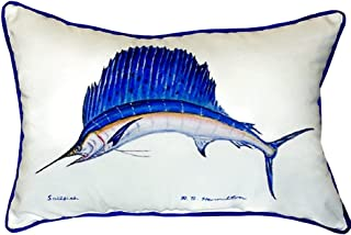 "Betsy Drake SN006 Sailfish Small Indoor/Outdoor Pillow, 11"" x14"""