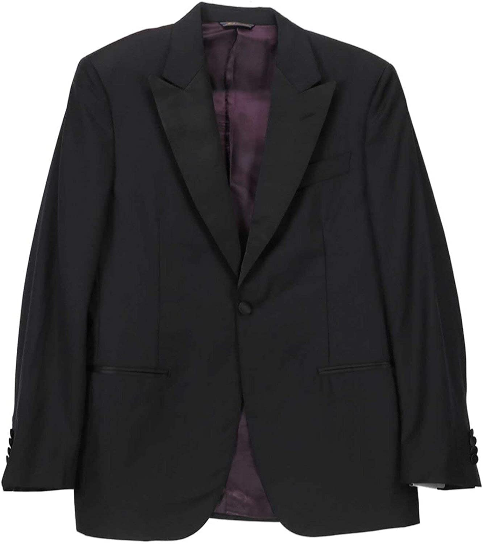 Trussini Men's Striped Peak-Lapel Wool Suit Tuxedo