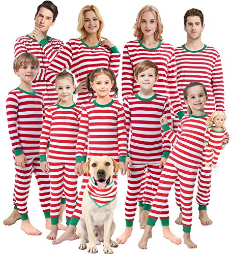 Matching Family Pajamas Christmas Boys and Girls Red Striped Jammies Baby Clothes Children Sleepwear Kids 2t