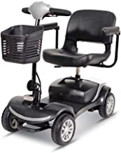 4 Wheel Power Scooter Culver Medical Mobility Disability Handicap Scout Compact Travel Power Scooter 12 mil (Gray)