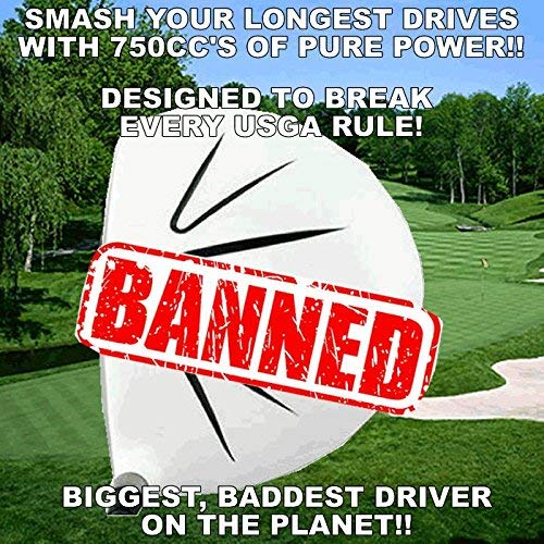 White Ghost Sooolong Illegal Non-CONFORMING High COR 750cc Huge Distance Banned Golf Driver Component Head (10.5)