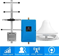 Cell Phone Signal Booster for Home and Office - Boosts Verizon AT&T T-Mobile 4G LTE Voice and Data - Dual 700MHz Band 12/13/17 Cellular Repeater with Ceiling/Yagi Antennas Cover Up to 3,500Sq Ft