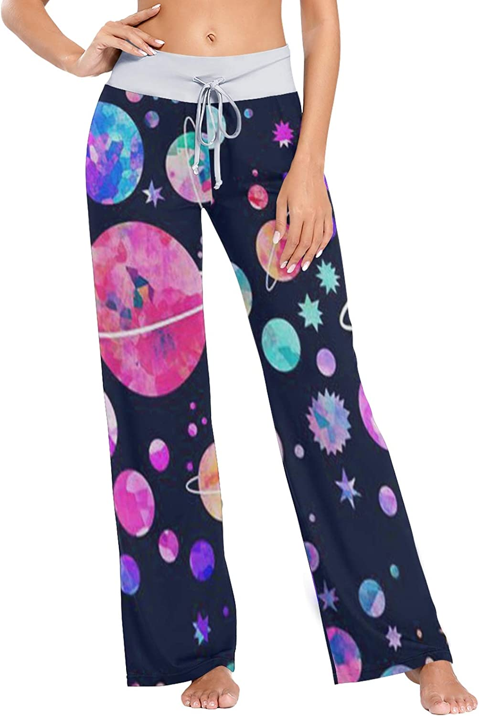 MSACRH mart Pajama Pants Wholesale for Women Sleepwear Planets Colorful