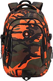 School Bags for Kids, Ergonomics Student Backpack, Protect The Spine, Waterproof Lightweight Backpack, Nylon Fabric, Suit for Kids Aged 6-10