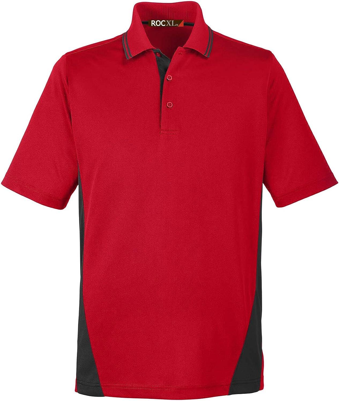 ROCXL Big & Tall Men's Polo Shirt 2XL – 6XL Black Color Block