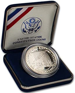 1987 -S Commemorative Constitution 90% Proof silver Dollar in OGP