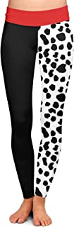 Queen of Cases Cruella de Vil Disney Villains Inspired Yoga Leggings XS-3XL
