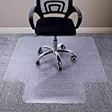 AiBOB Chair Mat for Low Pile Carpet, Flat Without Curling, 48 X 36 inches Office Carpeted Floor Mats for Computer Desk