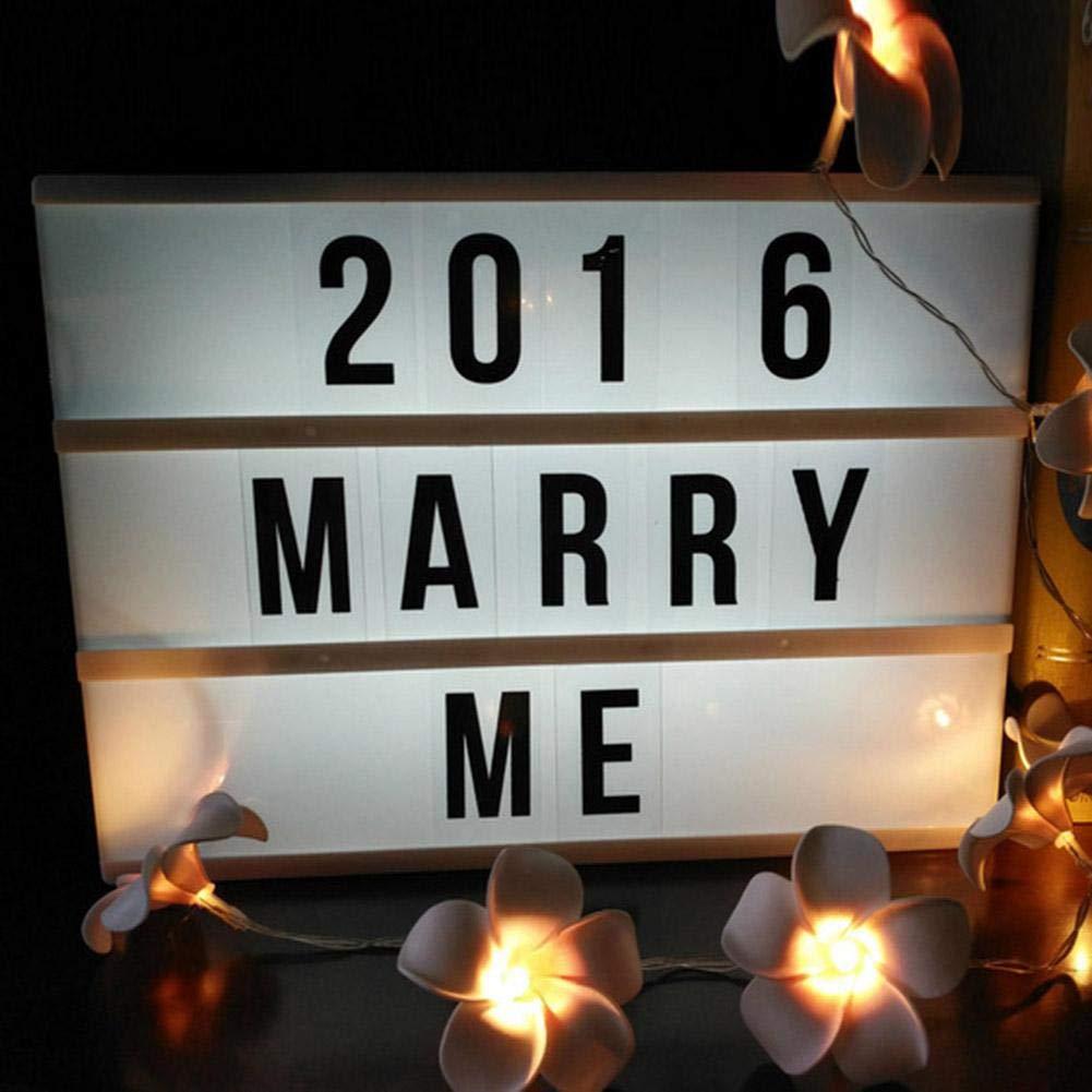 Caja de luz de cine con 85 letras, A4, luz LED, caja de mensajes decorativos, símbolos de emojis, batería o alimentación USB para Navidad, decoración del hogar, cumpleaños, fiesta de boda: Amazon.es: