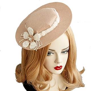 Fascinators Hat Wedding Headwear Ladies Race Royal Ascot Pillbox Wedding Cocktail Tea Party Derby Hat for Women