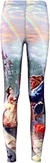 Womens Sexy Popular Beauty and The Beast Printed Pants Leggings