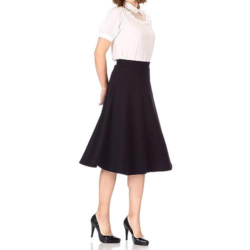 d19526761 Dani's Choice Everyday High Waist A-line Flared Skater Midi Skirt