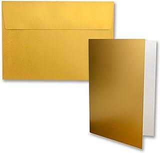 adhesivo h/úmedo 15,5 x 15,5 cm para tarjetas de boda color verde eucalipto FarbenFroh/® invitaci/ón y m/ás 50 unidades Sobres cuadrados sin ventana
