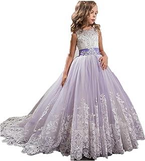 0997d1ceafc4ae Amazon.fr : robe de mariage pour fille - Violet