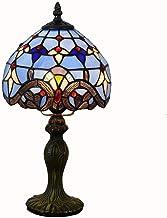 20cm escritorio lámpara Tiffany Color Cristal Lámpara de mesa Salón comedor dormitorio noche lectura lámpara bar azul barroco lámpara de mesa 40W × 1