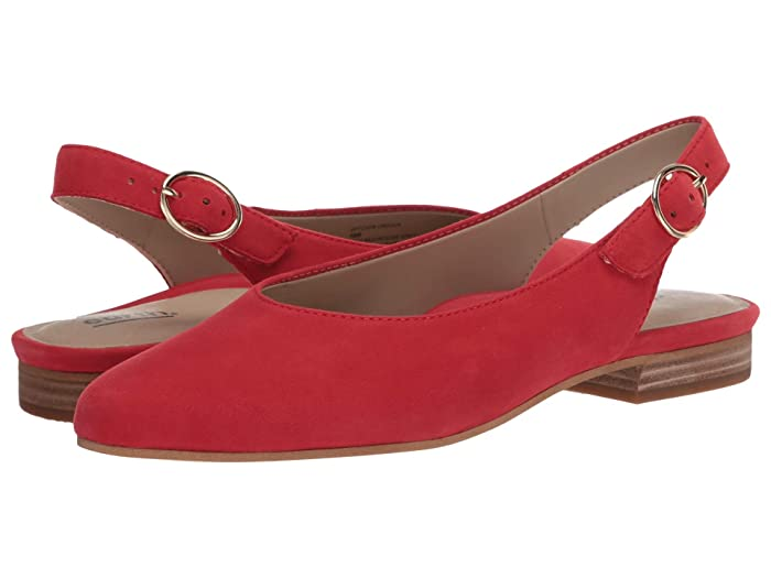 Earth  Uptown Ursula (Spicy Red Silky Suede) Womens Flat Shoes