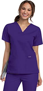 Landau Women's Durable and Comfortable 4-Pocket V-Neck Scrub Top Shirt