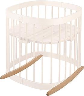 tweeto Babybett Wippe Wiegekufen- buche - Schaukel Schaukelfunktion Bettschaukel Baby Einschlafhilfe