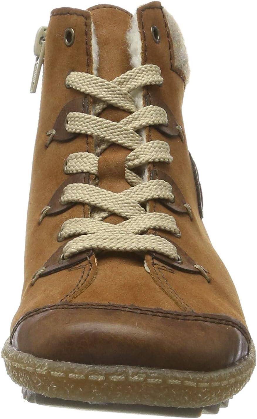 Rieker Herbst/Winter, Sneaker a Collo Alto Donna Marrone Chestnut Reh Wood 23