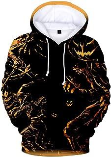 Bravetoshop Halloween Hoodies for Women Pumpkin Print Party Long Sleeve Casual Zipper up Pullover Sweatshirt Tops